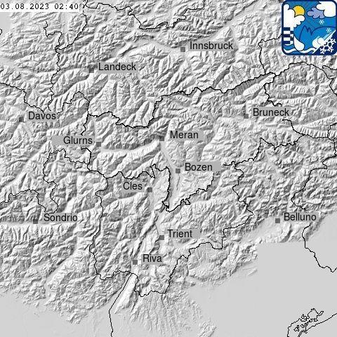 Blitzradar Südtirol (c) Wetterdienst der Autonomen Provinz Bozen