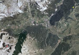 Aerofotografia: Campo neve Badia Piz La Ila