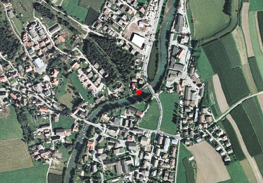 Technical map: Gauging station AHR BEI ST.GEORGEN