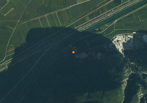 Aerial images: Weather station Salurn
