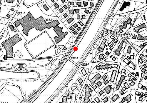 Technical map: Gauging station EISACK BEI BRIXEN