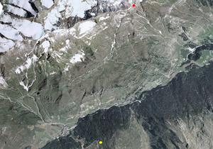 Aerofotografia: Campo neve Prati di Plan