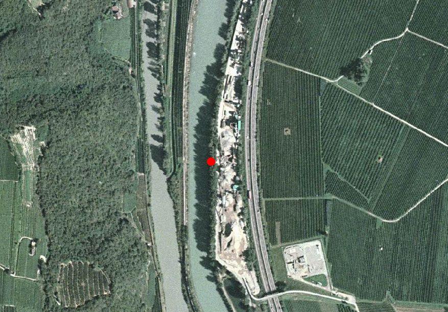 Carta tecnica: Stazione idrometrica ISARCO A BOLZANO SUD