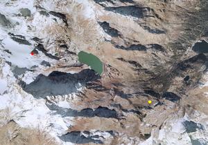 Aerofotografia: Campo neve Ultimo Pian dei Cavalli
