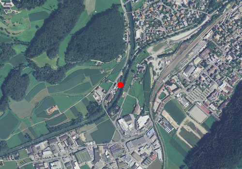 Technical map: Gauging station RIENZ BEI STEGEN