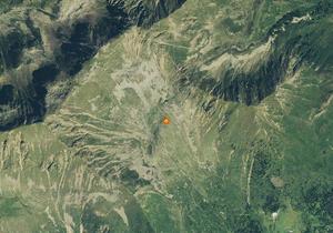 Aerofotografia: Campo neve Lauregno Clozner Loch