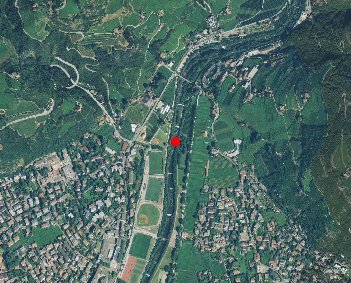 Technical map: Gauging station TALFER BEI BOZEN