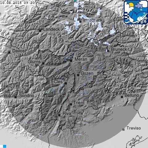 Radarbild Südtirol