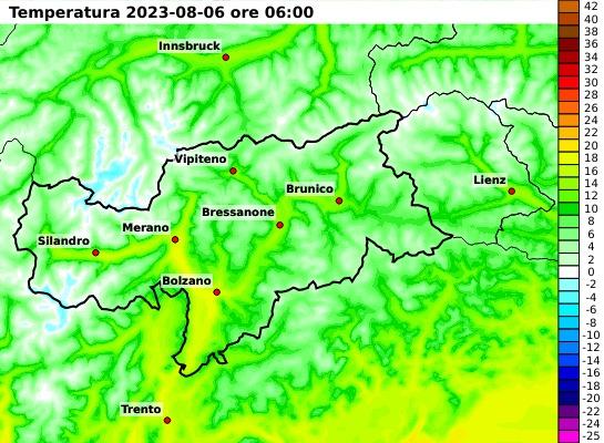 Mappa temperature