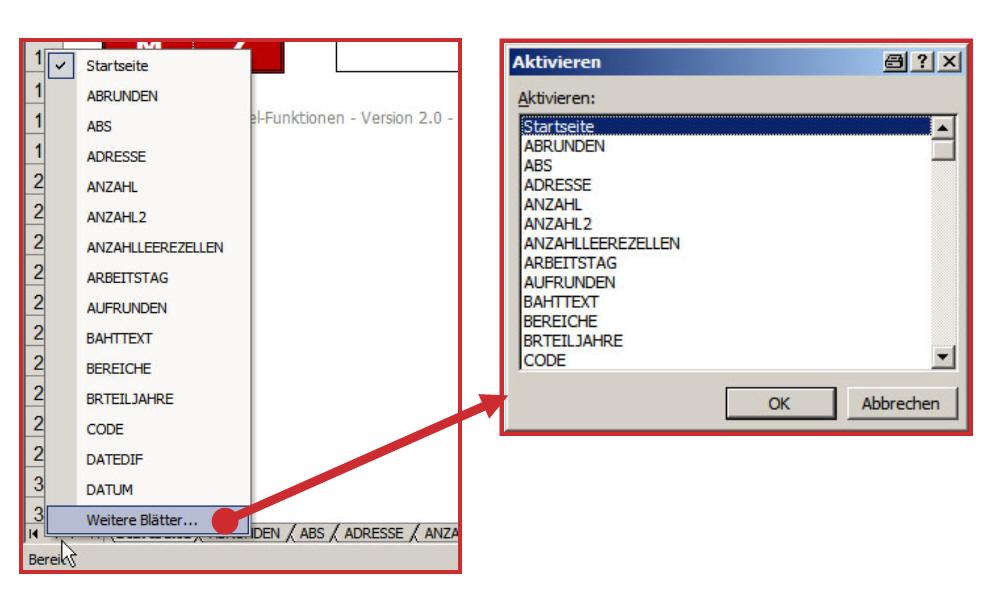 Excel Tabellenblätter Aktivieren : Excel landmaus autonome provinz bozen südtirol