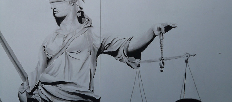 die blinde Justitia