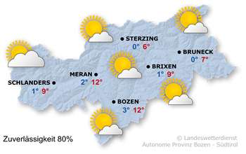 Wetter Südtirol / Seiser Alm Heute