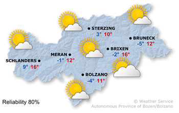 Wetterkarte Friday (02.12.2016)