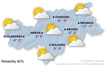 Forecast for today, Tuesday 17.01.2017