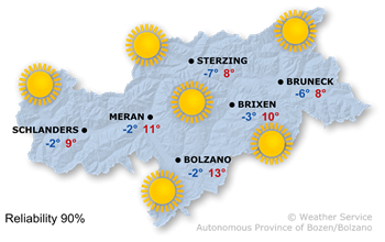 Forecast for today, Sunday 19.02.2017