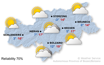 Forecast for today, Monday 24.04.2017