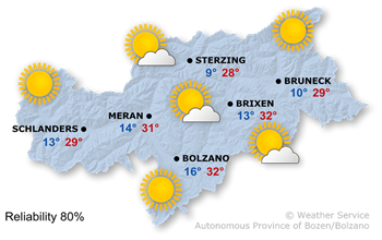 Forecast for today, Sunday 28.05.2017