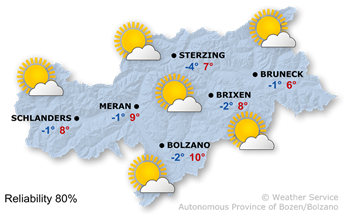 Today's weather forecast, Wednesday 22.11.2017
