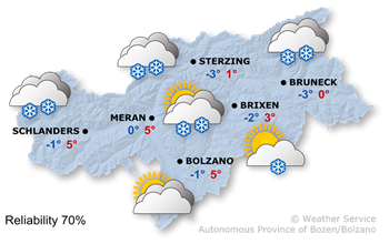 Forecast for today, Wednesday 17.01.2018
