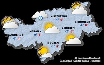 Wettervorhersage Südtirol 18.01.2018