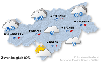 Schneefall vor allem im Norden