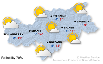 Today's weather forecast, Saturday 24.02.2018