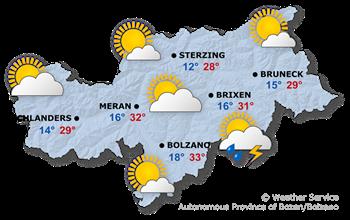 Today's weather forecast, Sunday 19.08.2018