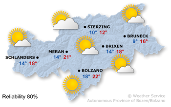 Forecast for today, Monday 24.09.2018