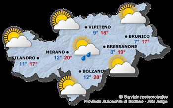 Il tempo in Alto Adige oggi