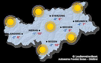 Wettervorhersage Südtirol 18.11.2018
