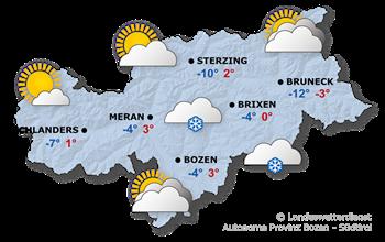 Wettervorhersage Südtirol 23.01.2019