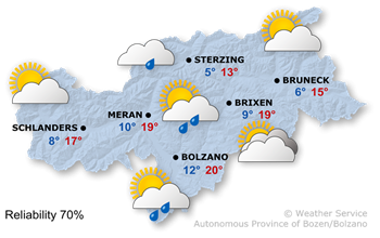 Today's weather forecast, Wednesday 24.04.2019
