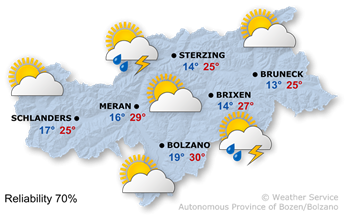 Today's weather forecast, Saturday 24.08.2019