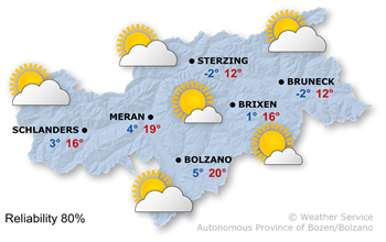 Weather Map South Tyrol today