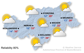 Today's weather forecast, 2021/06/23