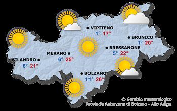meteo in Trentino Alto Adige