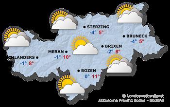 Wettervorhersage Südtirol / Seiser Alm Morgen