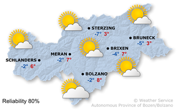 Wetterkarte Saturday (02.12.2016)
