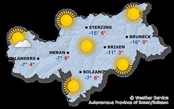 Wetterkarte Tuesday (23.01.2017)