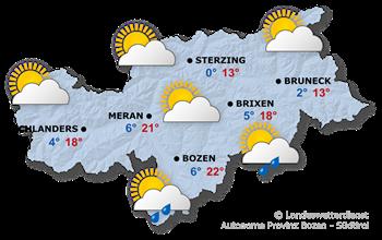 Wettervorhersage Südtirol 25.03.2017