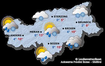 Wettervorhersage Südtirol 28.04.2017