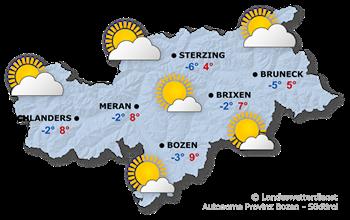 Wettervorhersage Südtirol 19.11.2017