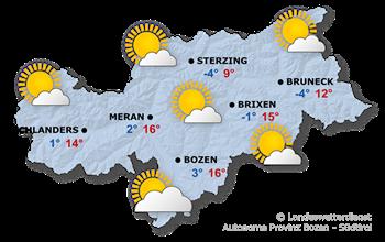 Wettervorhersage Südtirol 24.03.2018