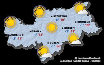 Wettervorhersage Südtirol 16.02.2019