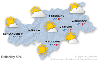 Today's weather forecast, Friday 21.02.2020