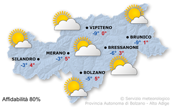 Previsioni per domani, 2021/01/19