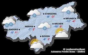 Wettervorhersage Südtirol 26.01.2021