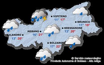 Previsioni per domani, 2021/08/04