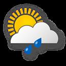 Cloudy, moderate rain