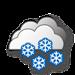 Dull, heavy snowfall